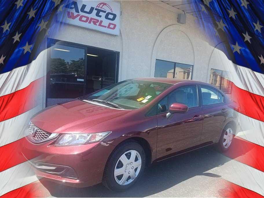 2014 HONDA CIVIC LX SEDAN 4D Red No Color ABS 4-Wheel Air Conditioning Alarm System AMFM S